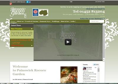 Painswick Rococco Garden Website